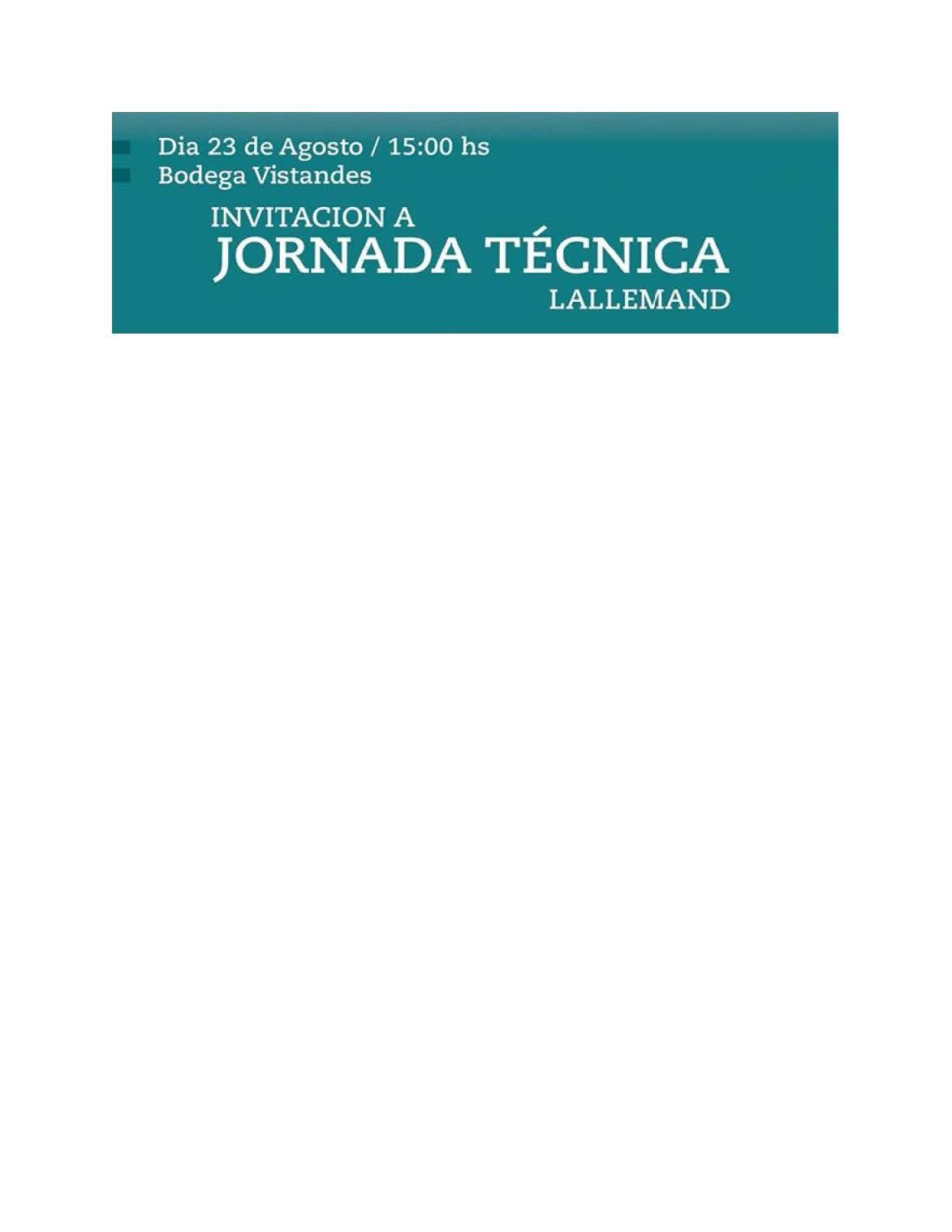 JORNADA TECNICA LALLEMAND EN BODEGA VISTANDES