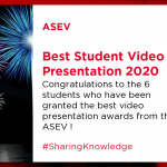 ASEV Best Student Video Presentation Awards 2020