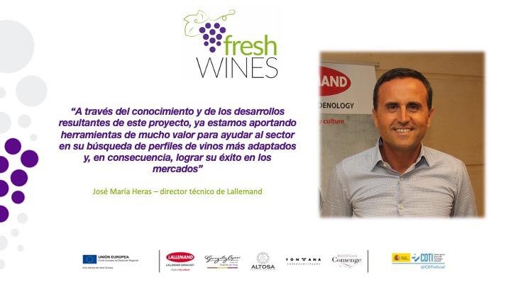 """""""A través del conocimiento y de los desarrollos resultantes de este proyecto, ya estamos aportando herramientas de mucho valor para ayudar al sector en su búsqueda de perfiles de vinos más adaptados y, en consecuencia, lograr su éxito en los mercados"""""""